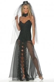 Sexy schwarze Braut Kost�m