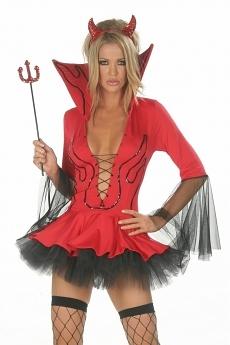 Sexy Teufels Kleid - Red Devil Fantasy