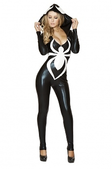 Spinnen Catsuit Overall - Halloween Kostüm