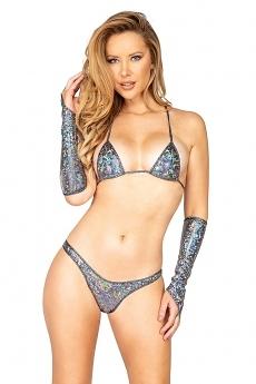 String Bikini silver