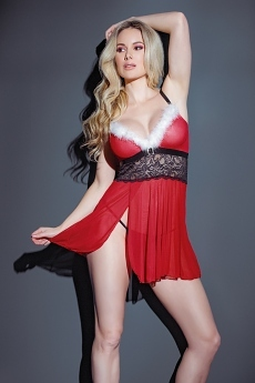 Weihnachts Dessous Babydoll