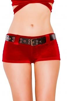 Weihnachts GoGo Shorts mit Gürtel