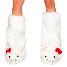Weiße Miez Beinstulpen