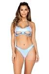 Bikini Gogo Dance Set Baby Blue