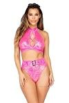 Bikini Gogo Dance Set Hot Pink No.2