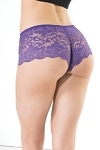 Booty Shorts Coquette lila