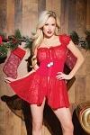 Christmas Babydoll & String