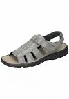Comfortabel Herren Sandale Sandalette grau