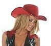 Cowboy Hut mit Paillettenverzierung rot