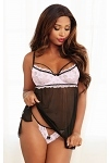 Dreamgirl Babydoll Pink Passion
