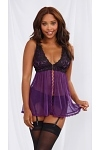 Dreamgirl Babydoll Purple Dream