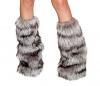 Eskimo Kostüm Beinstulpen grau