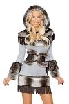 Eskimo Kostüm Deluxe grau