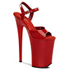 Extreme Plateau High Heels Infinity-909 rot