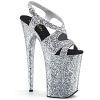 Extreme Plateau High Heels Infinity-930LG silber