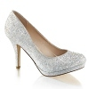 Glitter Pumps Covet-02 silber