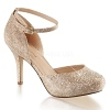 Glitter Pumps Covet-03 champagner