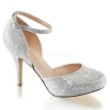 Glitter Pumps Covet-03 silber