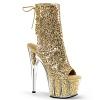 Glitzer Plateau Stiefelette Adore-1018G gold