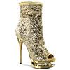 Glitzer Stiefelette BLONDIE-R-1008 gold