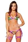 GoGo Bikini Double Rainbow Zebra