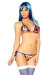 GoGo Bikini Multi Plaid