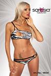 GoGo Bikini schwarz/weiss