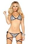 GoGo Bikini Silver Leopard