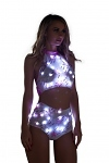 GoGo LED Top und Shorts Set