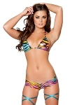 GoGo Micro Shorts Set Rainbow Girl