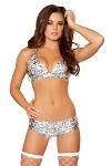 GoGo Shorts Set Silver Leopard