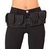 Gürtel mit Minitaschen schwarz