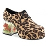 Herren Leopard Plateau Schuhe