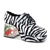 Herren Zebra Plateau Schuhe