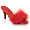 High Heels Pantolette Amour-03 rot