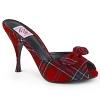 High Heels Pantolette Monroe-08 KARO rot