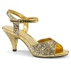 High Heels Sandalette Belle-309 Glitter gold