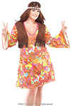 Hippie Girl Kostüm Gr.XL