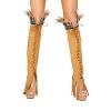 Indianer Kostüm Beinstulpen hellbraun