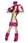 Karnevalskostüm Leopard Lady komplett