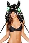 Katzen Kostüm Kapuze mit LED