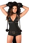 Katzen Kostüm Overall schwarz - Premium Qualität