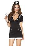 Krankenschwester Kostüm schwarz weiss