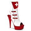 Krankenschwester Stiefelette Nurse-110 wei�