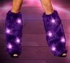 Kunstpelz Beinstulpen mit blinkenden LED