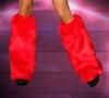 Kunstpelz Beinstulpen rot