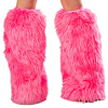 Kunstpelz Beinstulpen UV hot pink