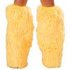 Kunstpelz Beinstulpen UV neon gelb