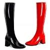 Lack Stiefel GoGo-300SQ schwarz rot
