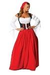 Langes Rotkäppchen Kostüm